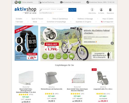 aktivshop.de screenshot