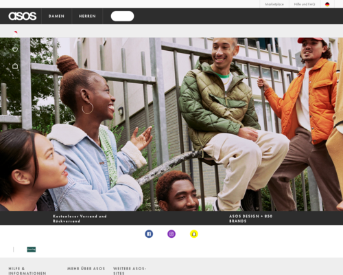 asos.de screenshot