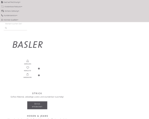 basler-fashion.de screenshot