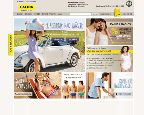 calida-shop.de screenshot