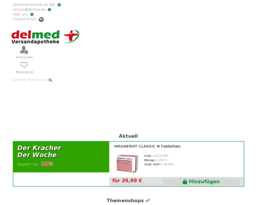 delmed.de screenshot