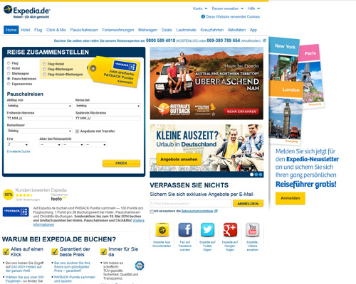 expedia.de screenshot