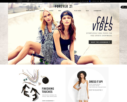 forever21.com screenshot