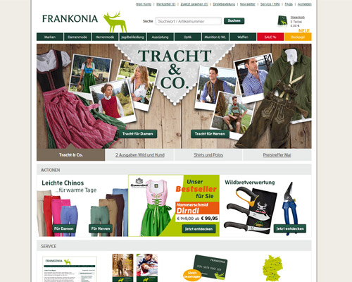 frankonia.de screenshot