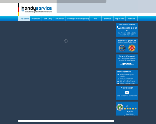 handyshop.de screenshot