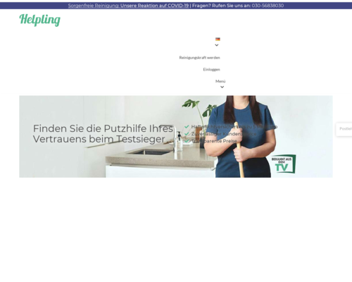helpling.de screenshot