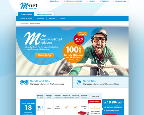 m-net.de screenshot