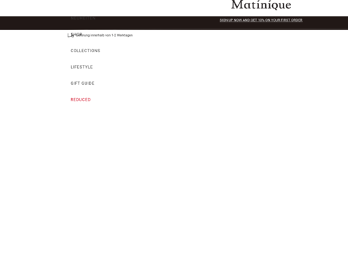 matinique.com screenshot