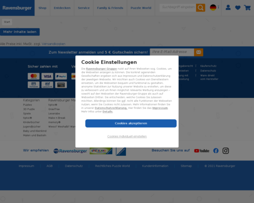 ravensburger.de screenshot