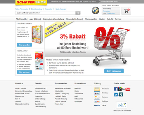 schaefer-shop.de screenshot