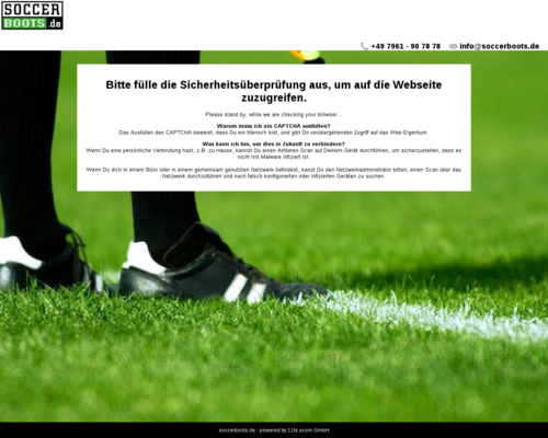 soccerboots.de screenshot