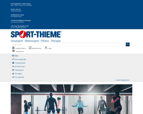 sport-thieme.de screenshot