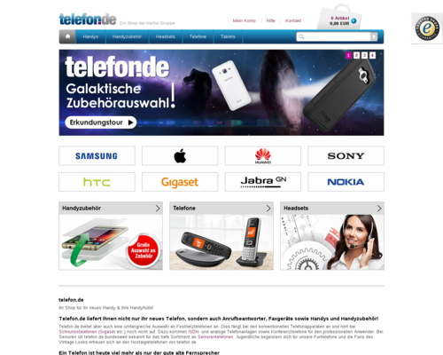 telefon.de screenshot