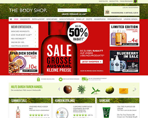 thebodyshop.de screenshot