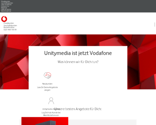 unitymedia.de screenshot