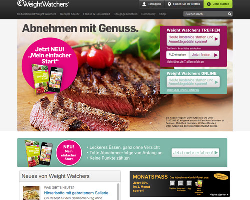 weightwatchers.de screenshot