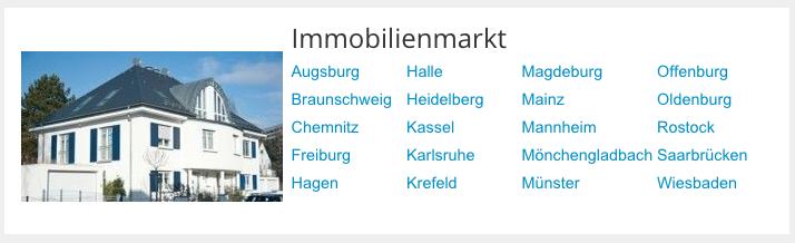 Immobilien in vielen deutschen Städten