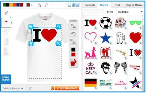 Einfach Shirts gestalten und bestellen