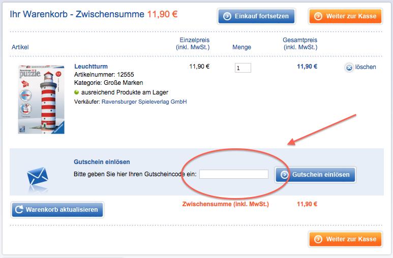 Ravensburger Gutschein nutzen und sparen
