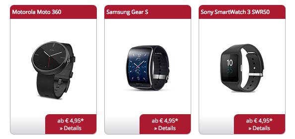 Smartwatches bequem online bestellen