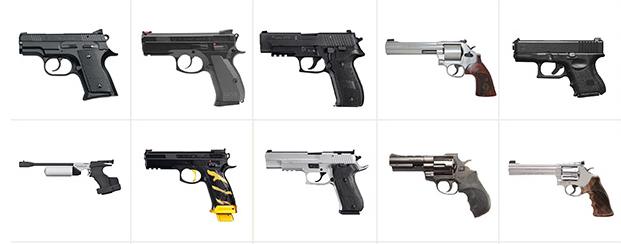 Große Auswahl an Kurz- und Langwaffen