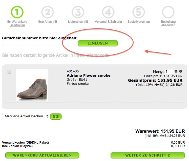 Mit einem Shoes Please Gutschein sparen