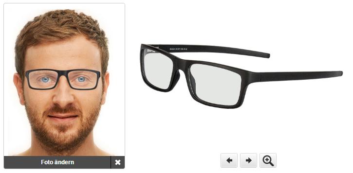 Brillen online anpassen