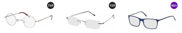 Damen- und Herrenbrillen bestellen