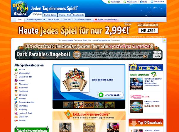 bigfishgames shop screenshot