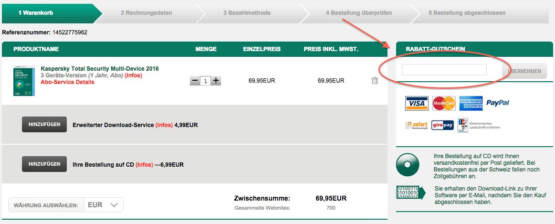 Kaspersky Rabattcode nutzen und sparen