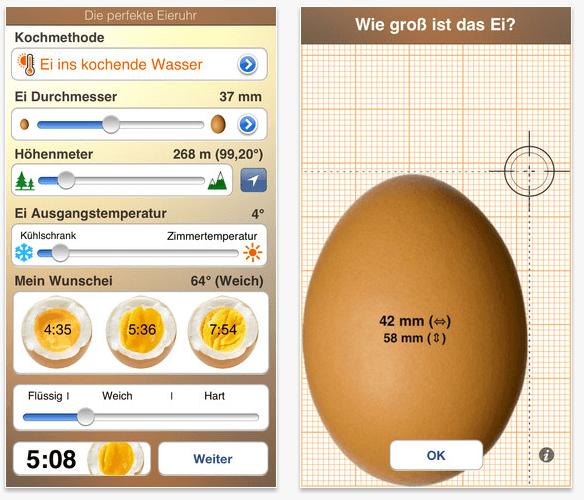 Die perfekte Eieruhr App Screenshot
