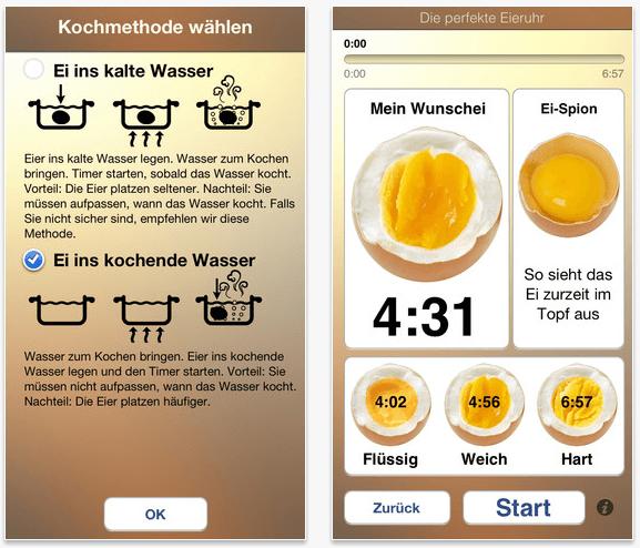 App tipp die perfekte eieruhr f r ios android - L ei weich kochen ...