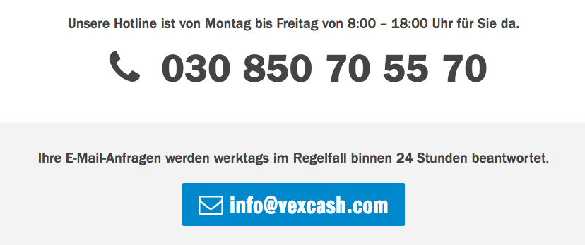 Kompetenter Service bei VexCash